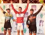 Photo Scott Kingsley: The Mens podium – Joe Schmalz (ELBOWZ Racing), Ben Zawcki (Team Mountain Khakis), Bobby Lea (Team Pure Energy/Pro Air-HF)